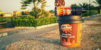 RECENSIONE AROMA SIGARETTA ELETTRONICA COFFEE MILL ROASTED CARAMEL LATTE LIQUIDO SVAPO