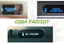 CHECK ATOMIZER NO ATOMIZER ATOMIZER SHORT SOLUZIONE